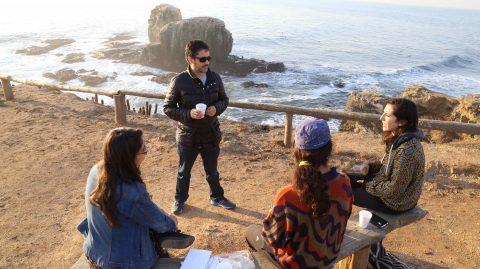 Las asesorías personales de guiones se realizaron en un incomparable Punta de Lobos